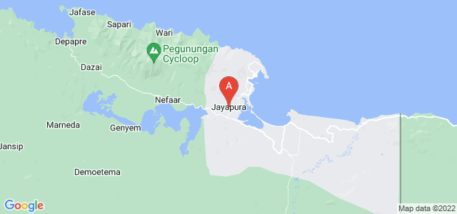 map of Jayapura, Indonesia