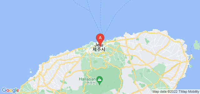 map of Jeju, South Korea