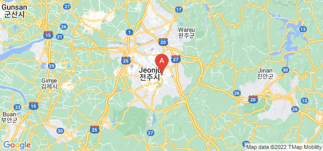 map of Jeonju, South Korea