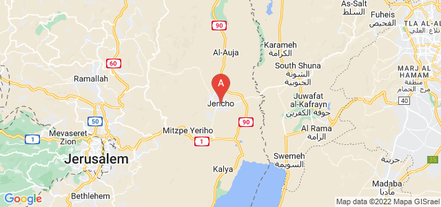 map of Jericho, Palestinian territories