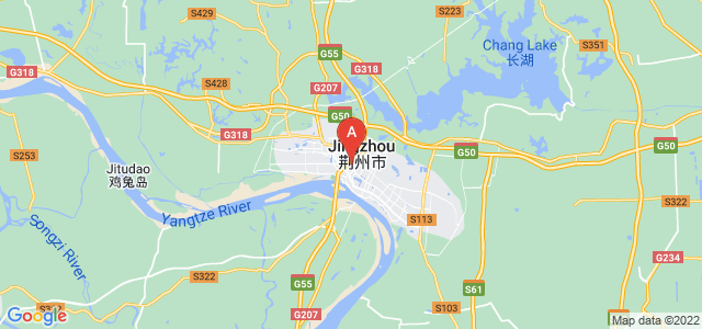 map of Jingzhou, China