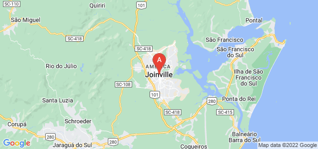 map of Joinville, Brazil