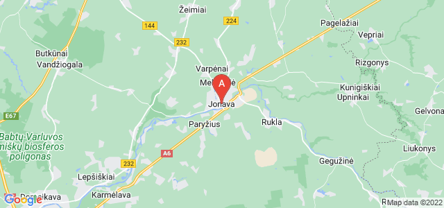map of Jonava, Lithuania