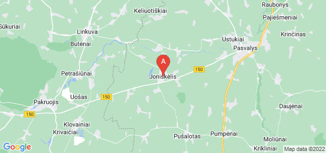 map of Joniškėlis, Lithuania