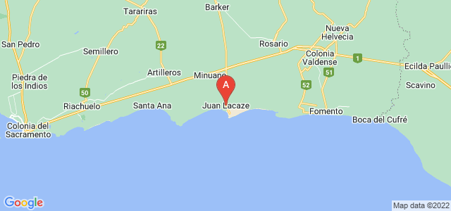 map of Juan Lacaze, Uruguay