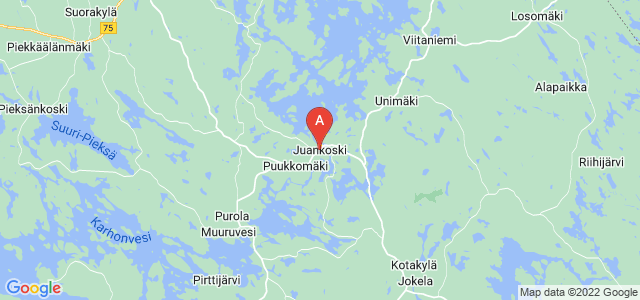 map of Juankoski, Finland