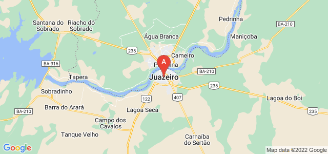 map of Juazeiro, Brazil