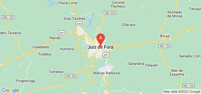 map of Juiz de Fora, Brazil