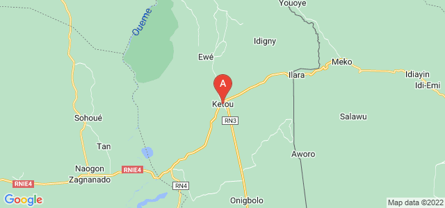 map of Kétou, Benin