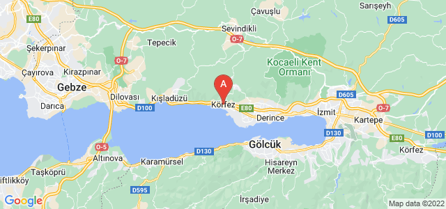 map of Körfez, Turkey