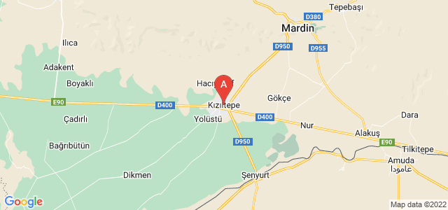 map of Kızıltepe, Turkey