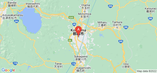 map of Kōriyama, Japan