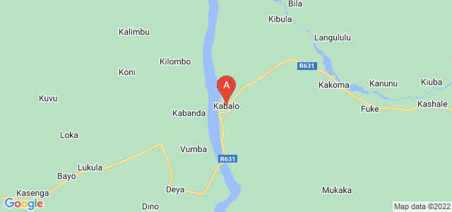 map of Kabalo, Democratic Republic of the Congo