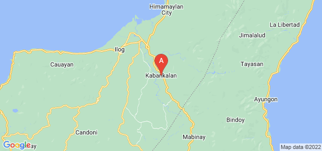 map of Kabankalan, Philippines