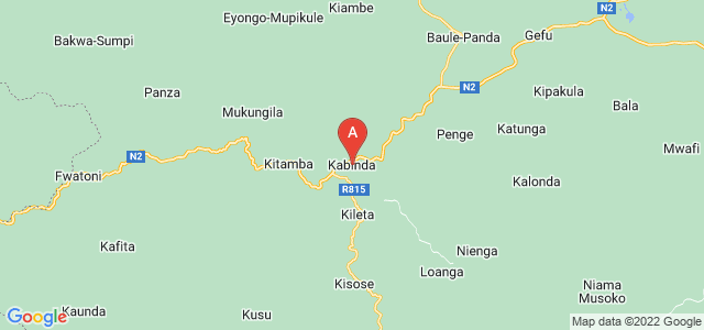 map of Kabinda, Democratic Republic of the Congo