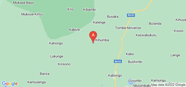 map of Kabongo, Democratic Republic of the Congo