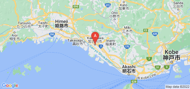 map of Kakogawa, Japan