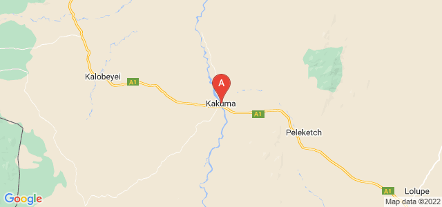 map of Kakuma, Kenya