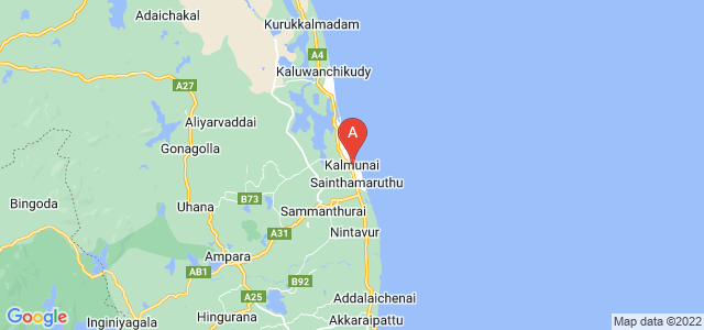 map of Kalmunai, Sri Lanka