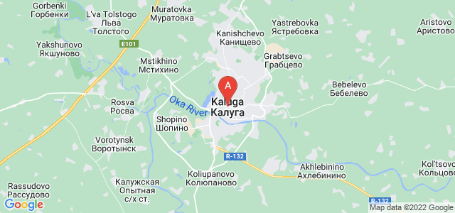 map of Kaluga, Russia
