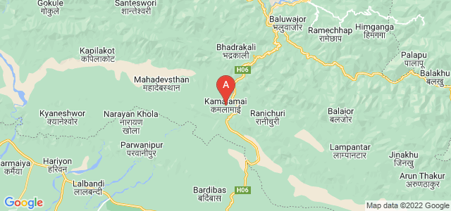 map of Kamalamai, Nepal