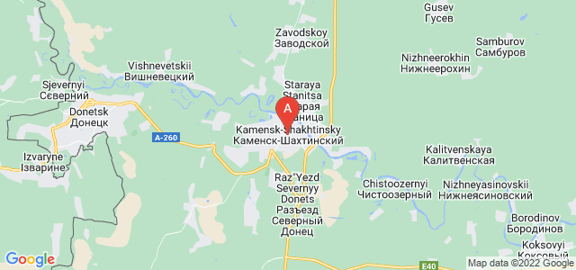 map of Kamensk-Shakhtinsky, Russia
