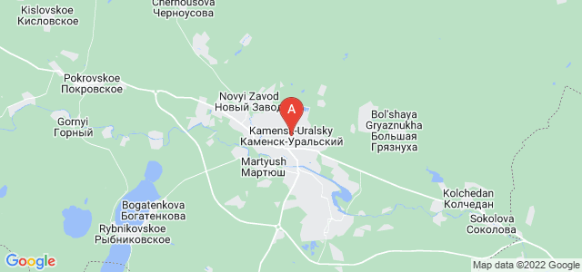 map of Kamensk-Uralsky, Russia