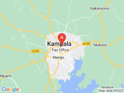 map of Kampala, Uganda