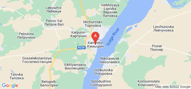 map of Kamyshin, Russia