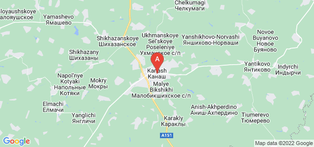 map of Kanash, Russia