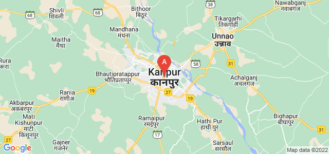 map of Kanpur, India