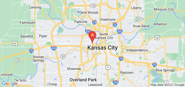 map of Kansas City (KS), United States of America