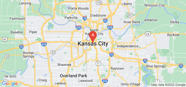 map of Kansas City (MO), United States of America