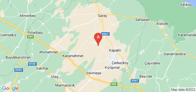 map of Kapaklı, Turkey