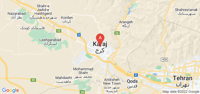 map of Karaj, Iran