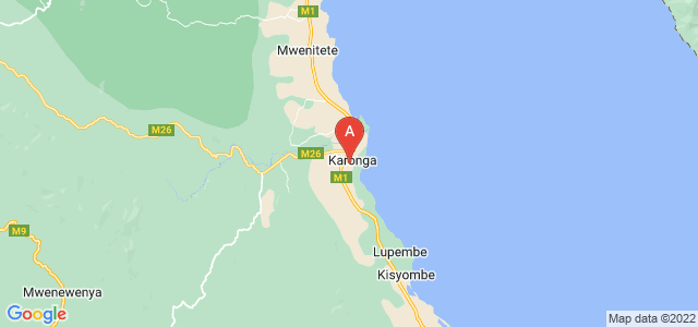 map of Karonga, Malawi