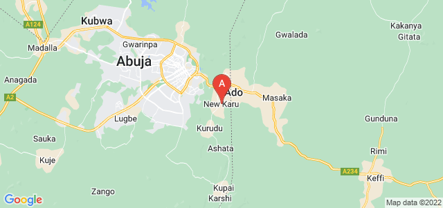 map of Karu, Nigeria