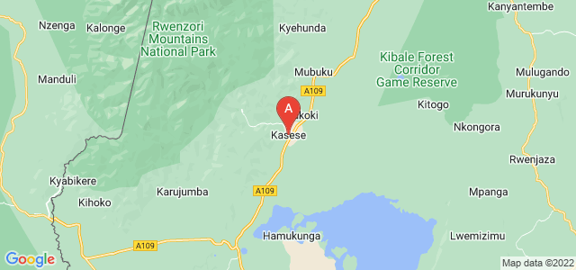 map of Kasese, Uganda