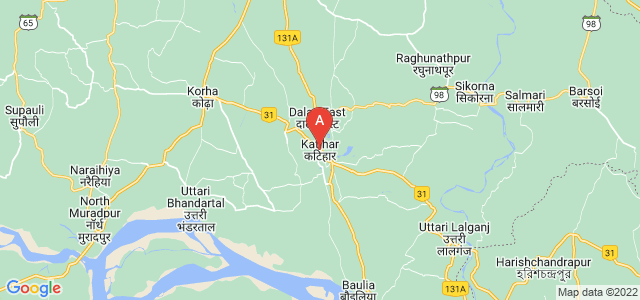 map of Katihar, India