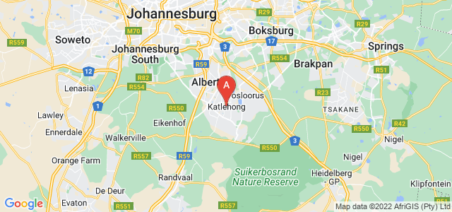 map of Katlehong, South Africa