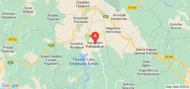 map of Kavadarci, Republic of Macedonia