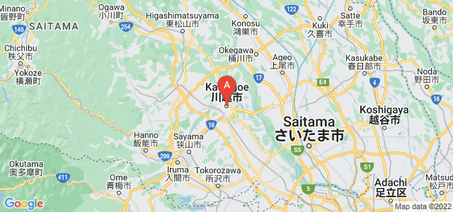 map of Kawagoe, Japan