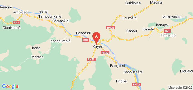 map of Kayes, Mali