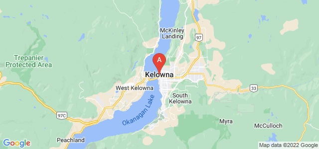 map of Kelowna, Canada