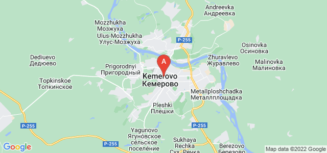 map of Kemerovo, Russia