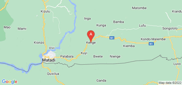 map of Kenge, Democratic Republic of the Congo