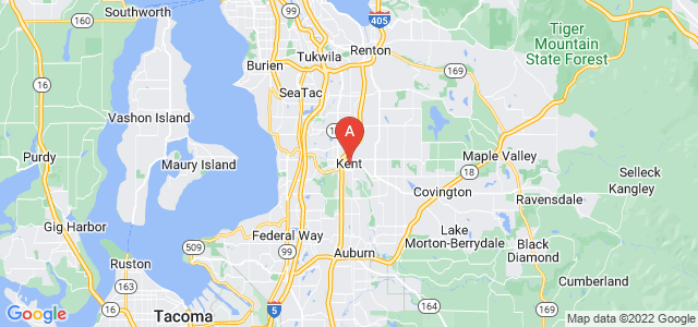 map of Kent, United States of America