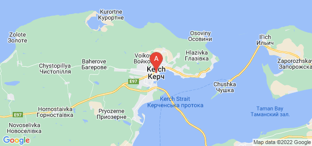 map of Kerch, Ukraine