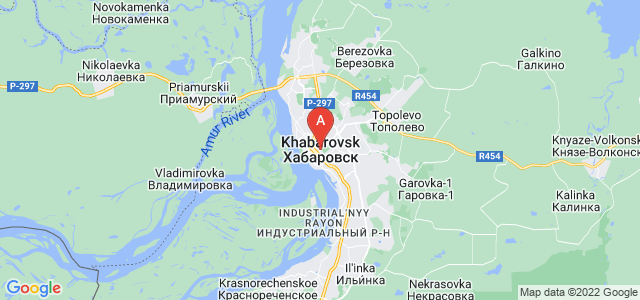 map of Khabarovsk, Russia
