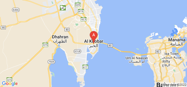 map of Khobar, Saudi Arabia